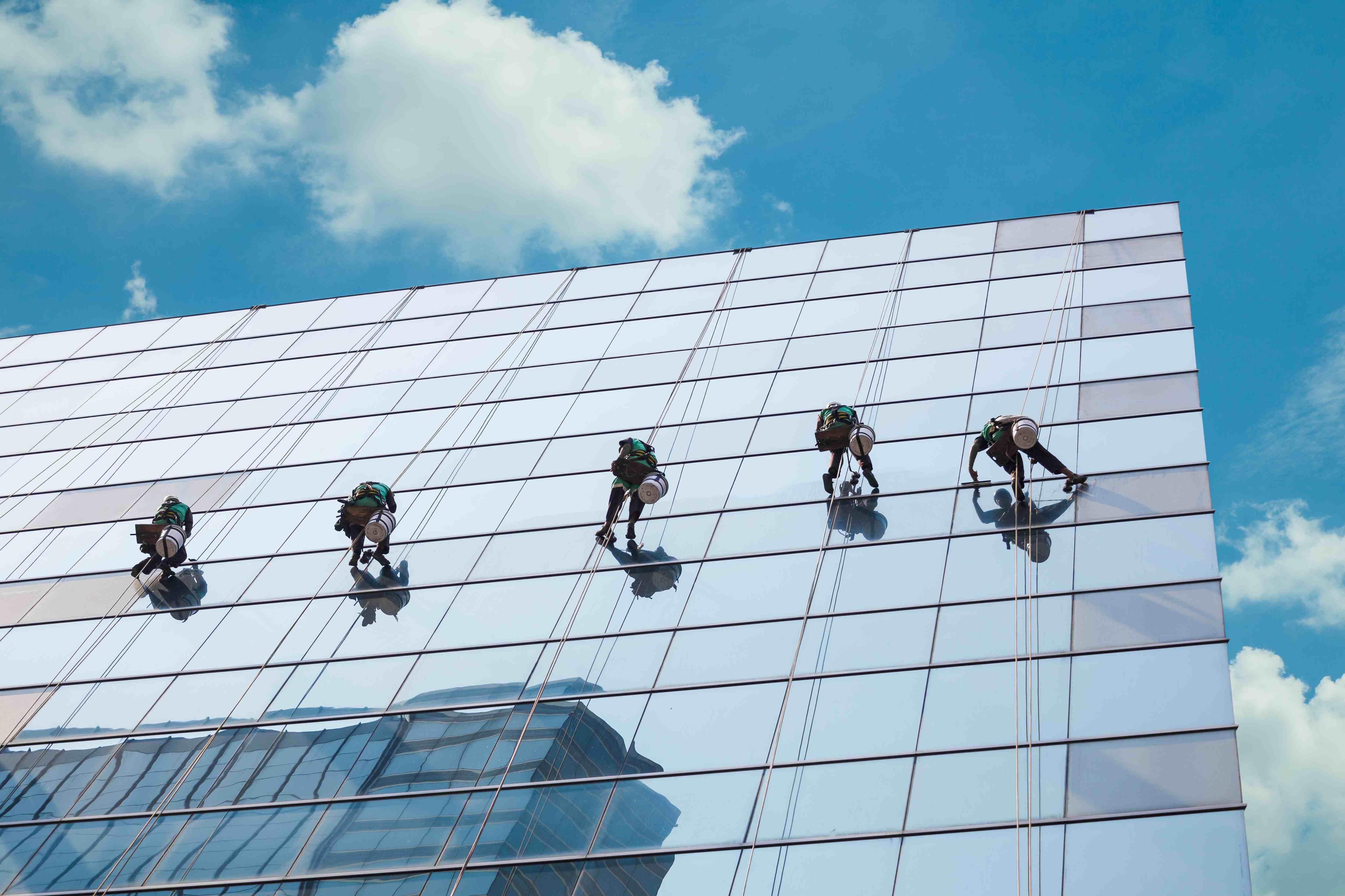 Vitrerie inaccessible / hauteur / building